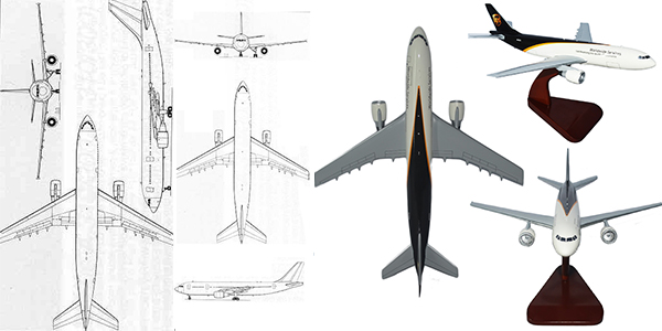 UPS Airbus A300-600 Custom Aircraft Model