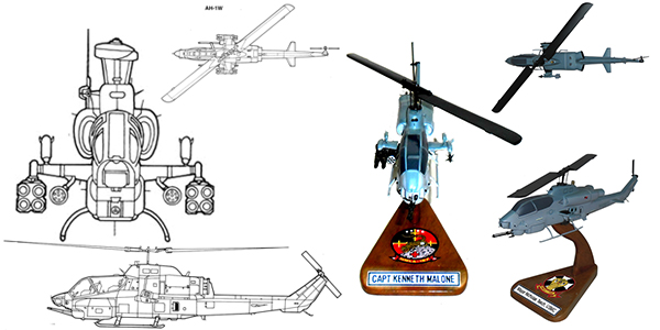 AH-1W Super Cobra Custom Aircraft Model