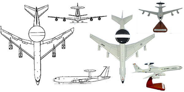 552 ACW E-3 Sentry Custom Aircraft Model