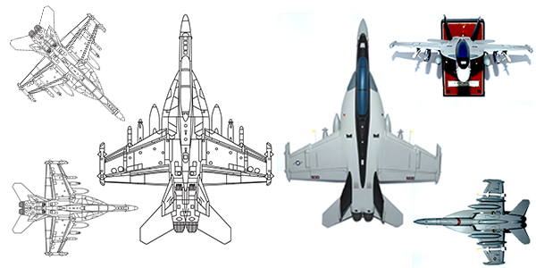 VAQ-141 EA-18G Growler Custom Aircraft Model