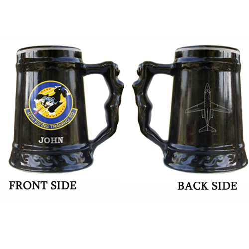 43rd Flying Squadrons Beercans: 24oz Mermaid Beer 48 FTS Ceramic Mugs