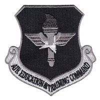 Grayscale Air Education and Training Command Patch