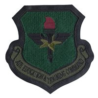 Subdued A-2 Jacket Patch Air Education and Training Command Patch