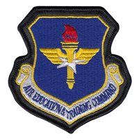 with Leather Air Education and Training Command Patch