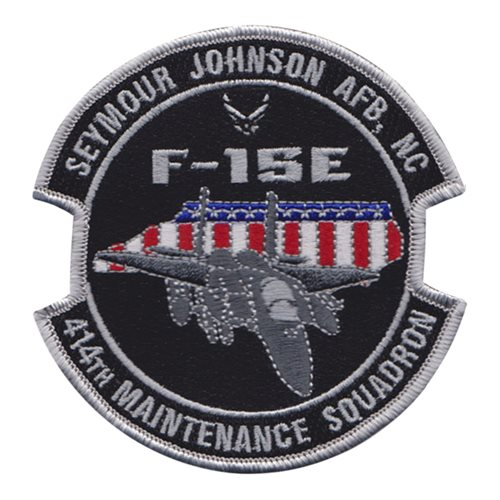 414 MXS Seymour Johnson AFB U.S. Air Force Custom Patches