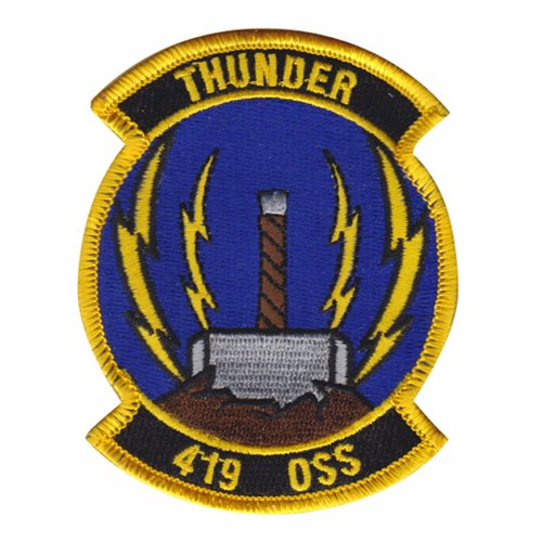 419 OSS Hill AFB U.S. Air Force Custom Patches