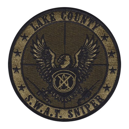 Lake County Sheriff's Office SWAT Sniper Team Civilian Custom Patches