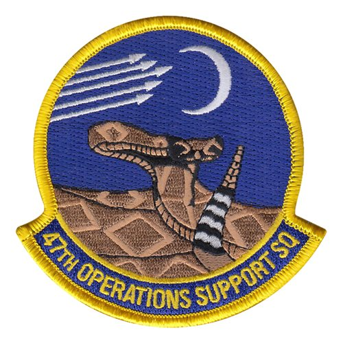 47 OSS Laughlin AFB U.S. Air Force Custom Patches