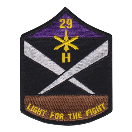 Battery H 29th Field Artillery II U.S. Army Custom Patches