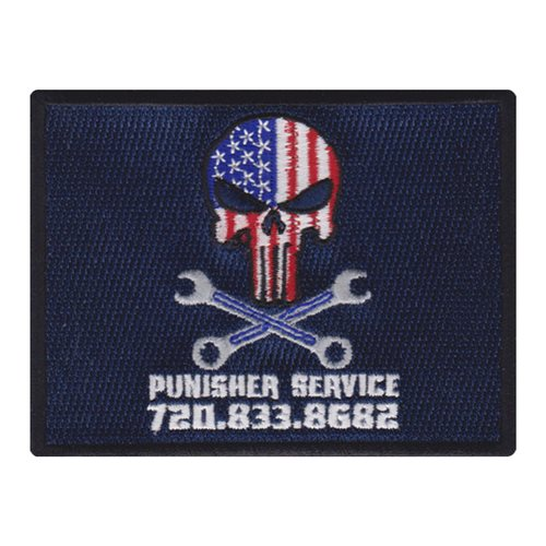 Punisher Service Civilian Custom Patches