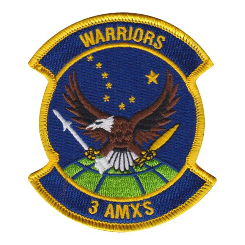 3 AMXS JBER U.S. Air Force Custom Patches