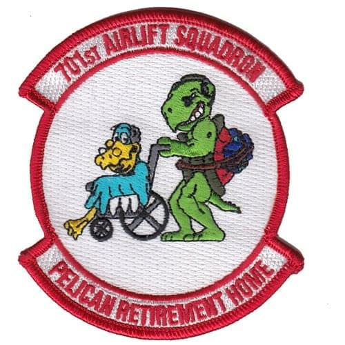 701 AS Charleston AFB U.S. Air Force Custom Patches