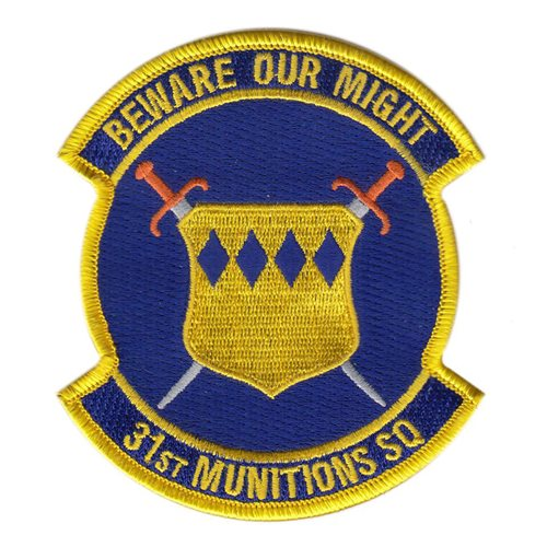 31 MUNS Aviano AB U.S. Air Force Custom Patches