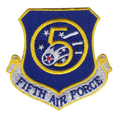 5 AF Numbered Air Forces U.S. Air Force Custom Patches