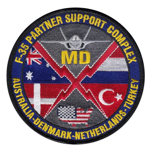 F-35 Partner Support Complex Eglin AFB, FL U.S. Air Force Custom Patches