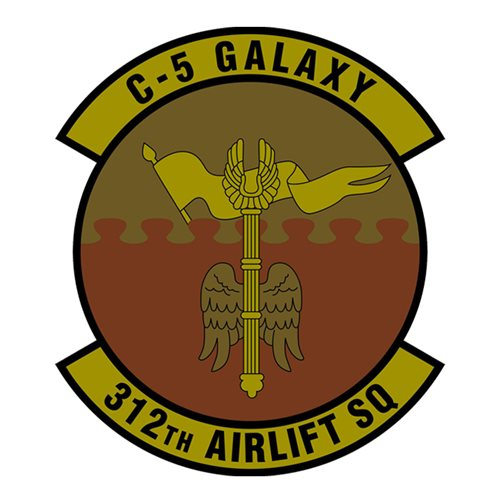312 AS Travis AFB U.S. Air Force Custom Patches
