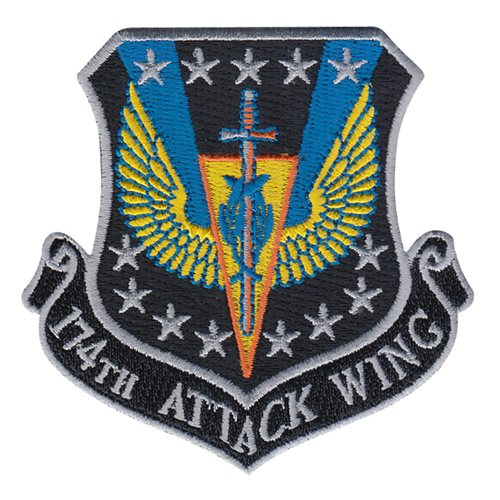 174 ATKW ANG New York Air National Guard U.S. Air Force Custom Patches