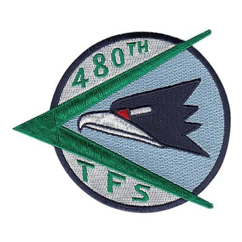 480 FS Spangdahlem AB U.S. Air Force Custom Patches