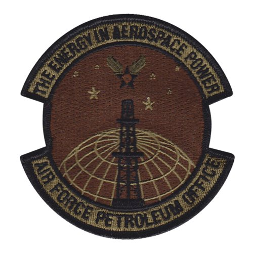 Air Force Petroleum Office Wright-Patterson AFB U.S. Air Force Custom Patches