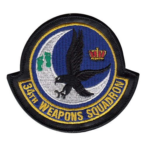 34 WPS Nellis AFB U.S. Air Force Custom Patches