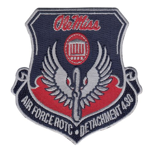 AFROTC Det 430 University of Mississippi Air Force ROTC ROTC and College Patches Custom Patches