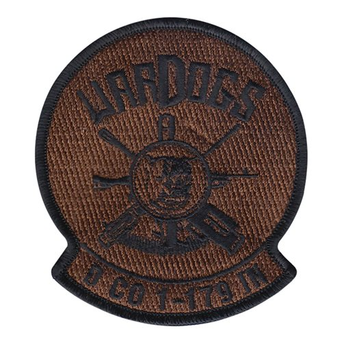 Delta Co 1179 IN Wardogs U.S. Army Custom Patches