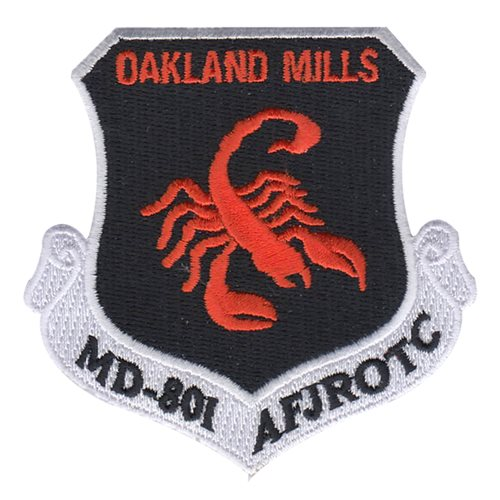 AFJROTC MD-801 Oakland Mills Patch High School JROTC Custom Patches