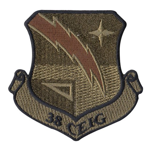 38 CEIG Tinker AFB, OK U.S. Air Force Custom Patches