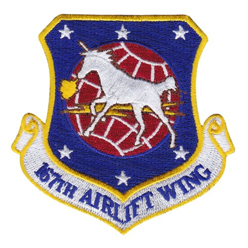 167 AW ANG West Virginia Air National Guard U.S. Air Force Custom Patches