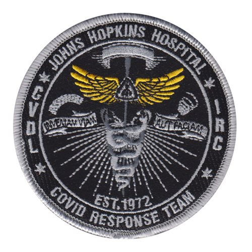 Johns Hopkins Hospital Civilian Custom Patches