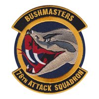 78th Attack Squadron (78 ATKS) Custom Patches