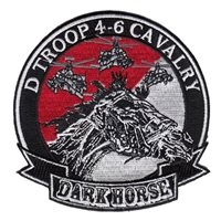 D Troop 4-6 CAV Patches