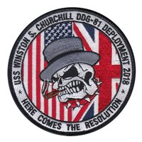 USS Winston Churchill Patches