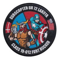 Ft Rucker UH-72 Classes Custom Patches
