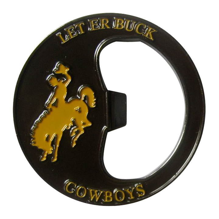 Let er Buck Cowboys Bottle Coin Opener