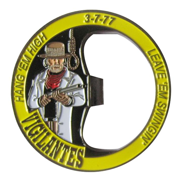 Vigilantes Hang em High Bottle Coin Opener