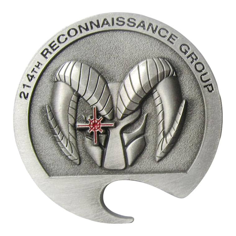 214th Reconnaissance Group Bottle Coin Opener