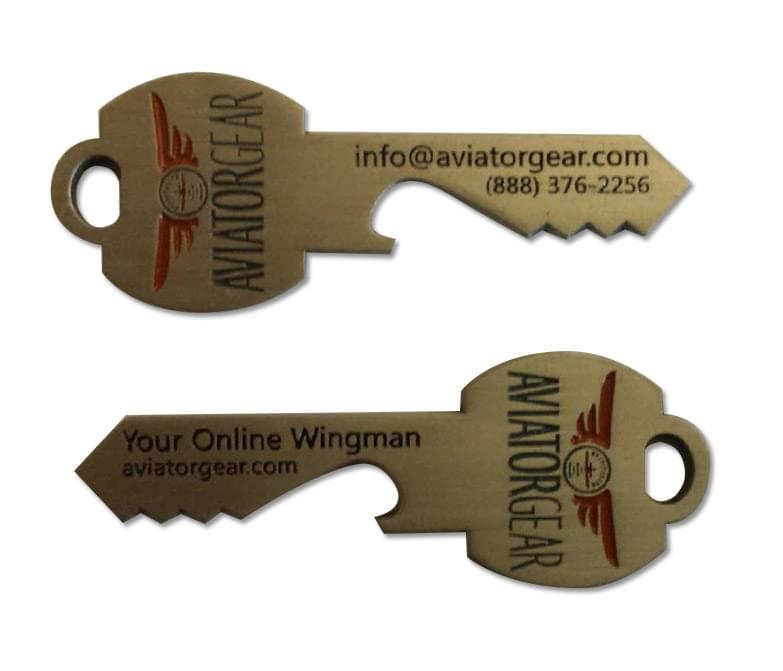 Aviator Gear Bottle opener key