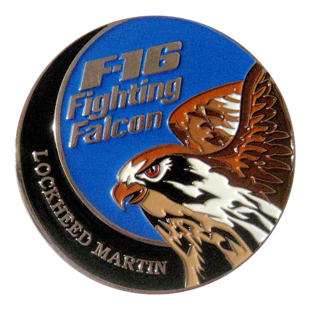 LM F-16 Block 70 Coin Back SAMPLE