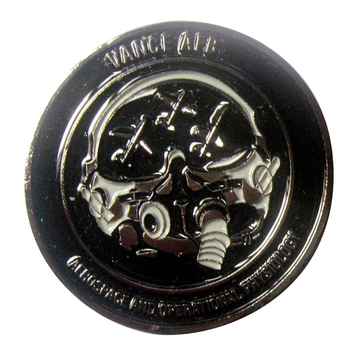 Vance AFB Black Nickel Challenge Coin