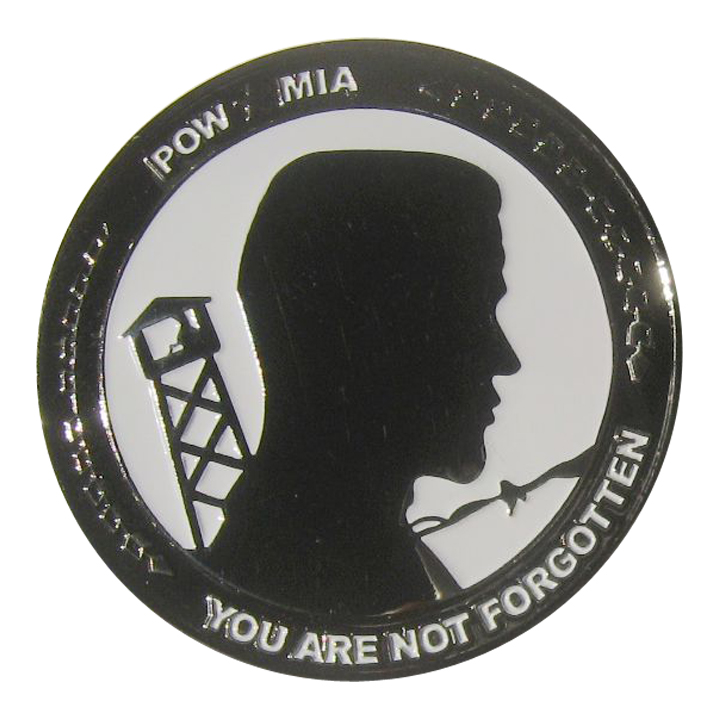 POW MIA, You are not Forgotten, Black Nickel Challenge Coin