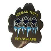 353 CTS Eielson Iceman Top 3 Challenge Coin - Front Sample