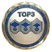 FLANG Top 3 Challenge Coin - Front Sample