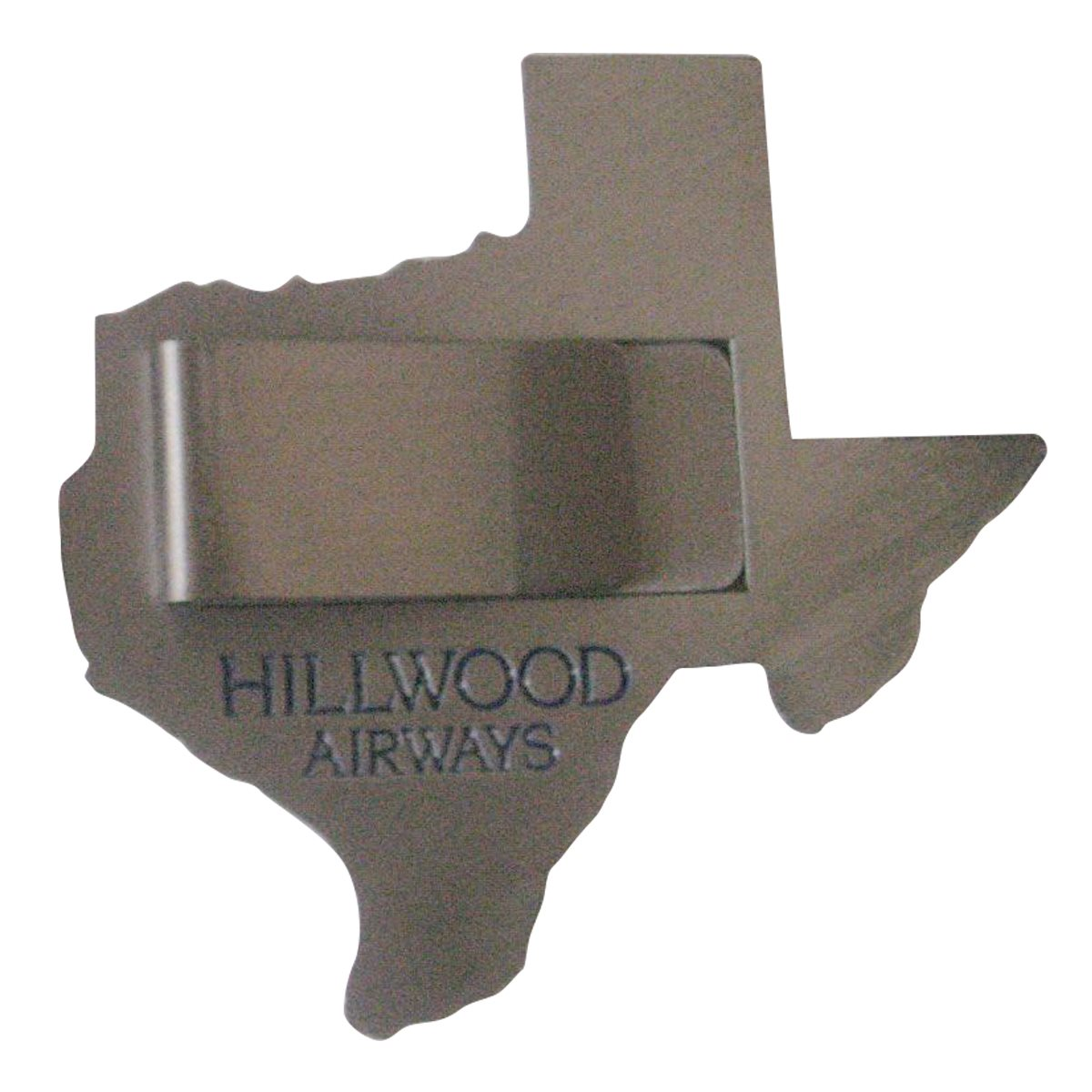Hillwood Airways FBO Money Clip Coin Back Sample