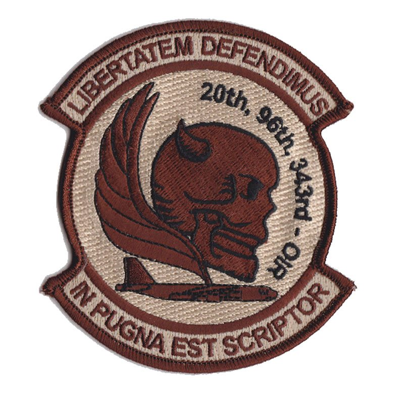20th, 96th, 343rd OIR Patch