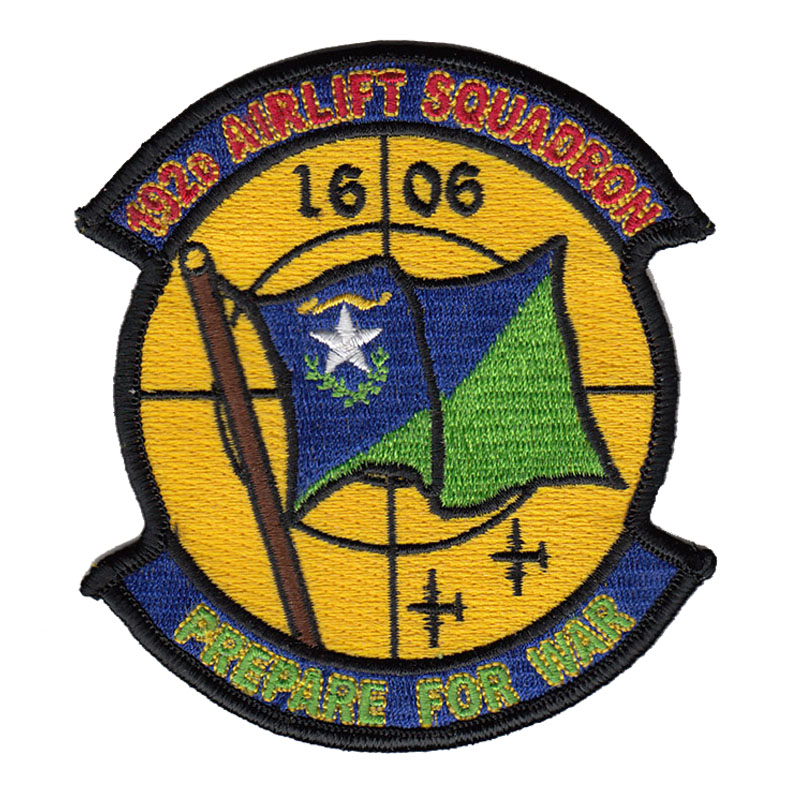 192D Airlift Squadron Patch