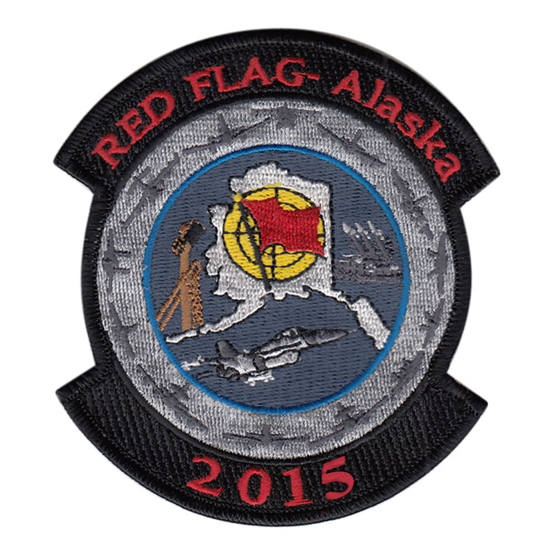 RED FLAG Alaska 2015 Patch