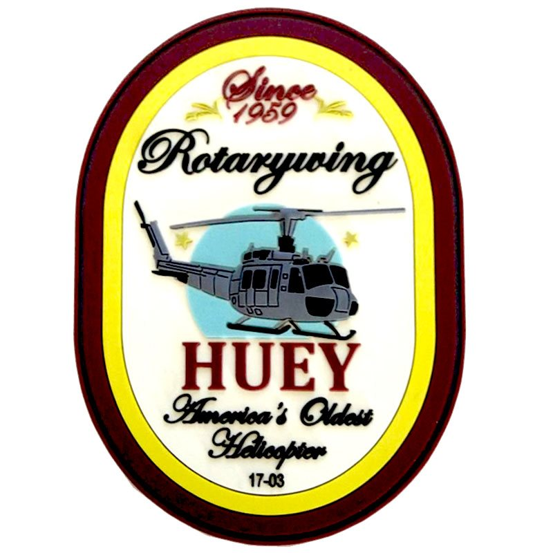 America's Oldest Helicopter 1703 - HUEY PVC Patch