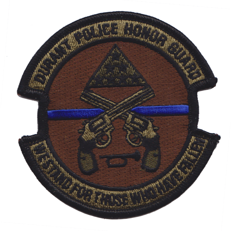 Durant Oklahoma Police Honor Guard Patch