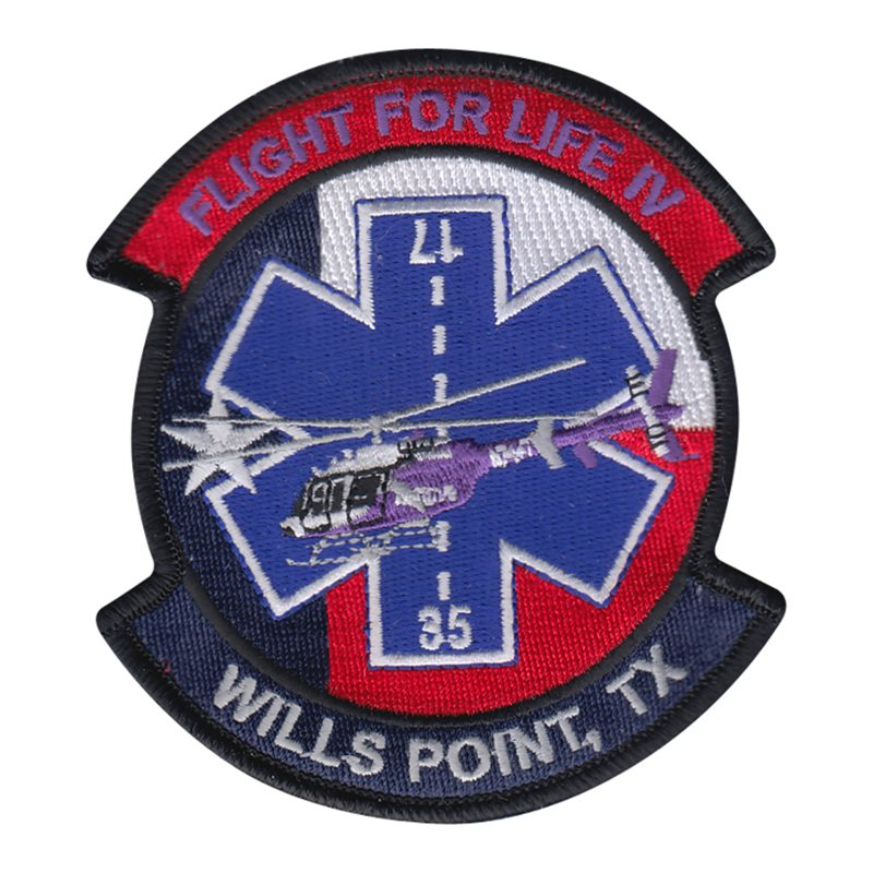 Wills Point Texas Flight For Life IV Patch (AG11438) SAMPLE